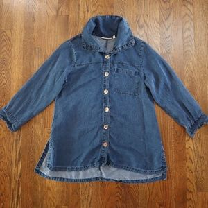 Soft Surroundings Denim Style Button Down Small